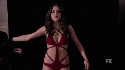 Elizabeth Gillies - Sexy Swimsuit + Boob Shake from Sex&Drugs&Rock&Roll - -