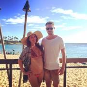 Jewel Staite - Twitter bikini pic, Maui, Hawaii 20.7.2015 x1