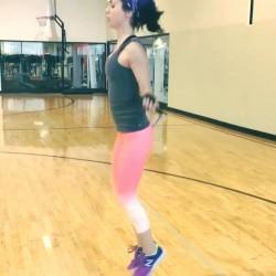 Eliza Dushku Jumping Rope - 7/22/15