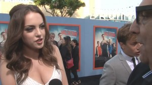 Elizabeth Gillies Red Carpet Interview at the Vacation Premiere in Westwood - July 27, 2015