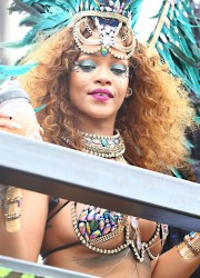 Rihanna - Desses For Kadooment Day in Barbados (8/3/15)