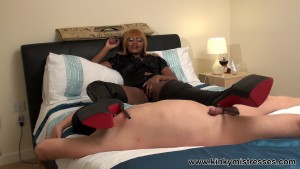 Mistress Ava Black -Punished With 12 Inches Boots part 1