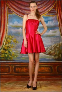 TeenModeling Marina - Red Dress - x165