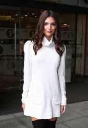 Emily Ratajkowski - Leaving BBC Studios in London 8/11/15