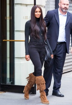 Ciara - Leaving IMG Models Office In NYC (8/11/15)