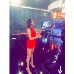 Alyson Stoner - Leggy in red dress 8/13/15