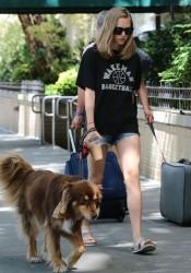 Amanda Seyfried - Walking her dog in NYC 8/29/15