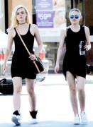 Elle and Dakota Fanning - Out and about in Studio City - (08/15/15