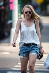 Dakota Fanning Braless in New York City - 9/3/15