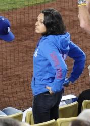 Mila Kunis - Giants vs. Dogers Game in LA 9/2/15