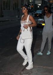 Rihanna - Wearing a sheer bra in NYC 9/7/15