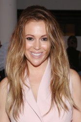 Alyssa Milano - Marissa Webb Spring 2016 Fashion Show in NYC 9/10/15