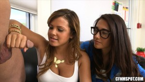 CFNMSpot - Eva Lovia, Keisha Grey, Sami St Clair - How Big Is Your Dick?