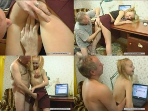 Old father fucking sweet little blonde daughter