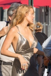 Blake Lively - On the set of a Woody Allen Film in NYC 9/18/15