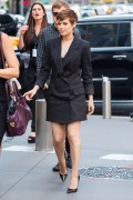 Kate Mara - Out and about in NYC while attending DKNY Show during NY Fashion Week 9/16/15