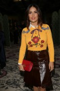 Salma Hayek   Gucci fashion show Milan Italy Sept 23rd 2015 HQ.