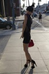 Bai Ling stops and poses for pictures in Beverly Hills October 13-2015 x4
