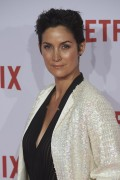 Carrie-Anne Moss - Netflix Spain's Presentation Red Carpet, Madrid 20.10.2015 (c-thru to bra) x45