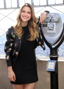 Melissa Benoist - Promoting 'Supergirl' at the Empire State Building in New York 10/26/15
