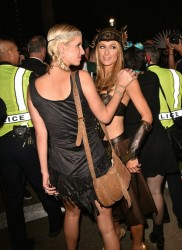 Paris & Nicky Hilton -at George Clooney's Casamigos Halloween Party October 30-2015
