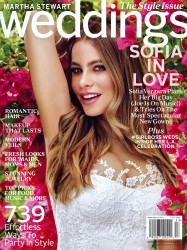 Sofia Vergara x7 Martha Stewart Weddings Fall, 2015