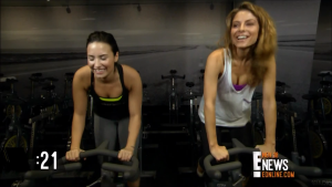 Demi Lovato and Maria Menounos -Soul Cycling 60 Second Quiz E! News