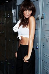 Helena Christensen photoshoot for Men's Health, November 2014
