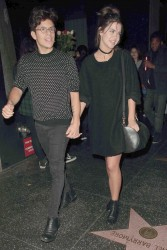 Maia Mitchell and her BF outside Katsuya Restaurant x18