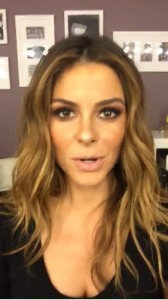 Maria Menounos Snapchat Video - Pulling Down Top to Reveal Cleavage