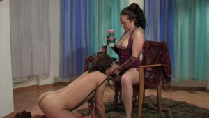 Shesadome - Chris and Patrick - Obedient puppy serves his mistress