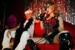 Scarlett Johansson Performing With The Pussycat Dolls at The Viper Room in West Hollywood - March 19, 2004