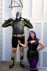 AliceInBondageLand - Heavy Bondage Handjob - Leather Strait Jacket FemDom Humiliation