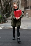Julianne Moore as carrying a christmas present through the west village NY December 17-2015 x38