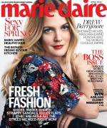 Drew Barrymore -                Marie Claire Magazine April 2016.