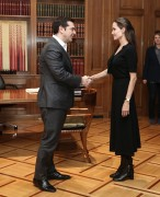 Angelina Jolie - visits PM Alexis Tsipras in Athens, Greece 3/16/2016