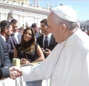 Eva Longoria -                         Meeting Pope Francis Rome March 30th 2016.