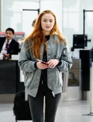 Sophie Turner - Departing from Heathrow Airport, London - April 8, 2016